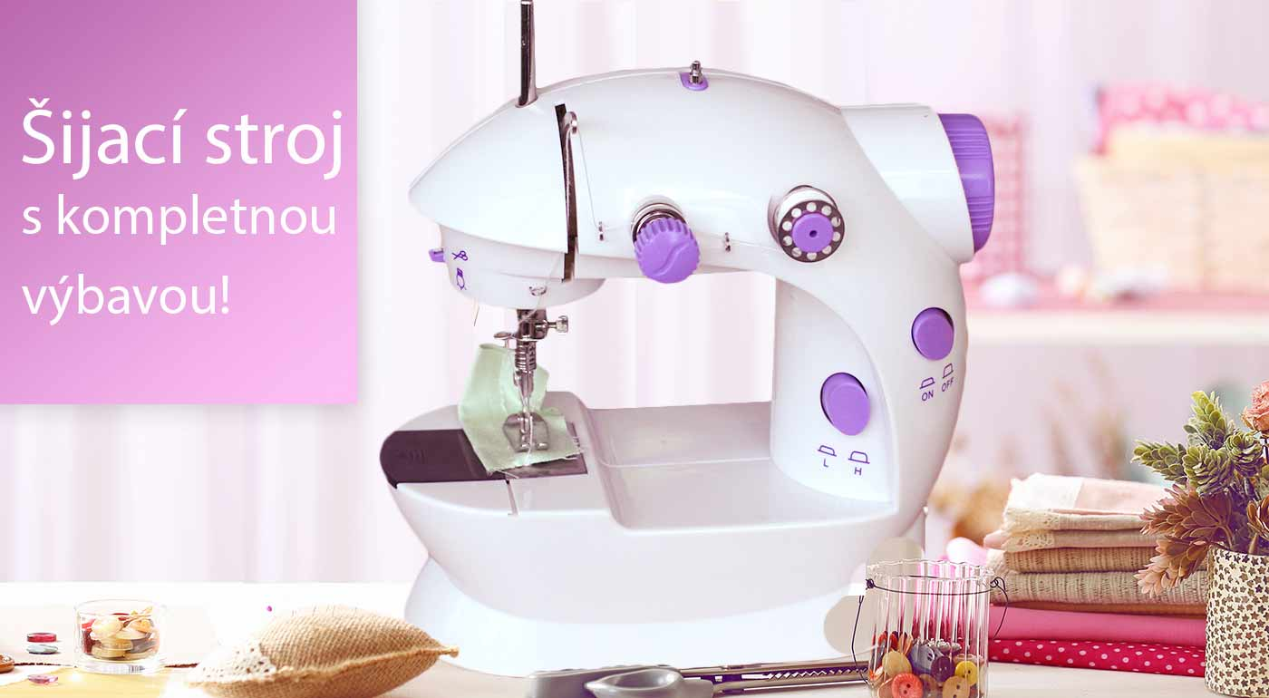 Prenosný šijací stroj Seriousharp, s ktorým zvládnete úpravy odevov či tvorivé šitie ľavou zadnou