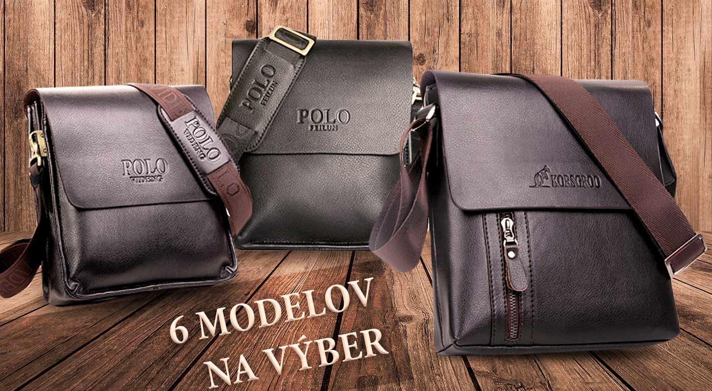 Elegantné kožené pánske tašky POLO, Bandicoot a Korsgroo v dvoch farbách