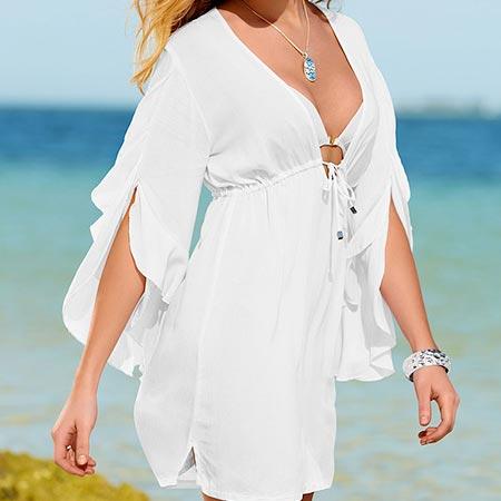 Dámska letná tunika, biela - za 10,99 €