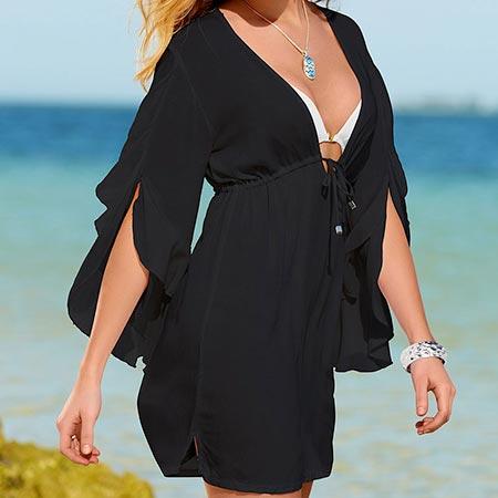Dámska letná tunika, čierna - za 10,99 €