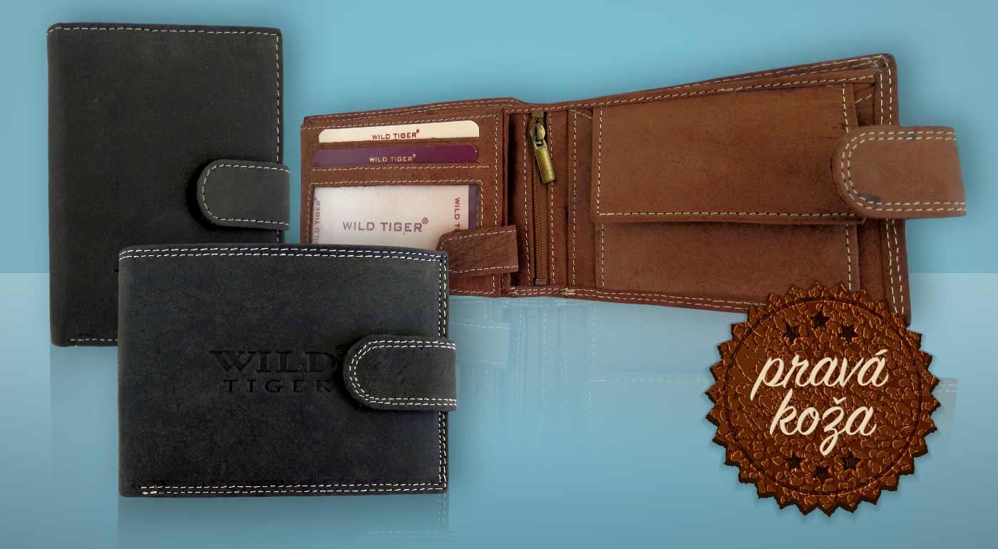 0dc7607f5 Kvalitné pánske peňaženky WILD tiger z pravej kože