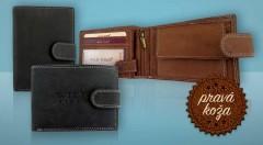 Zľava 64%: Kvalitná pánska peňaženka z pravej kože bude svedčať vašim financiám. Vďaka elegantnému prevedeniu a praktickým rozmerom sa  tak stane vašou vernou spoločníčkou.