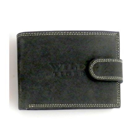 00ebcce30 Pánska kožená peňaženka WILD na šírku - čierna