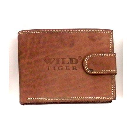 Pánska kožená peňaženka WILD na šírku - svetlohnedá