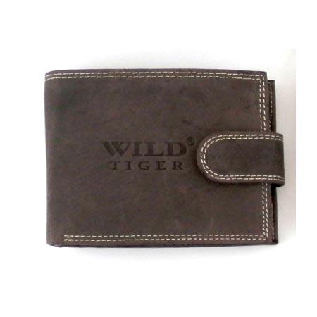 6294036ad Pánska kožená peňaženka WILD na šírku - tmavohnedá