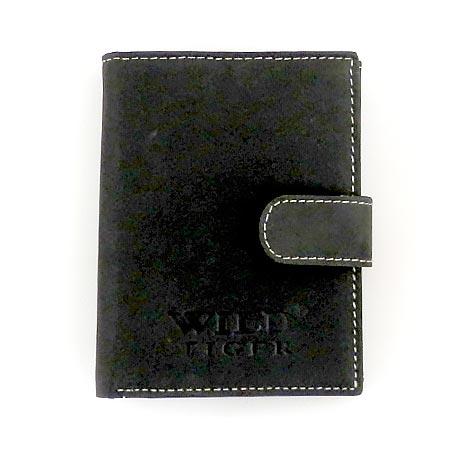 Pánska kožená peňaženka WILD na výšku - čierna