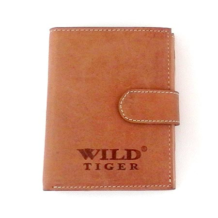 73089524c Pánska kožená peňaženka WILD na výšku - svetlohnedá