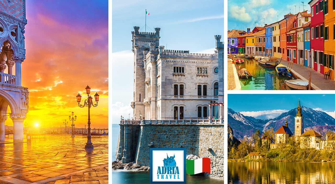 Spoznajte prekrásne Benátky, Zámok Miramare a slovinské jazero Bled počas 3-dňového autobusového zájazdu