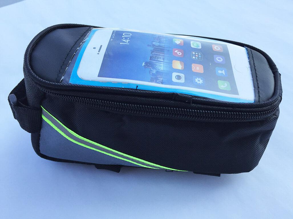 Cyklistické puzdro na mobil a drobnosti - farba sivo-čierna