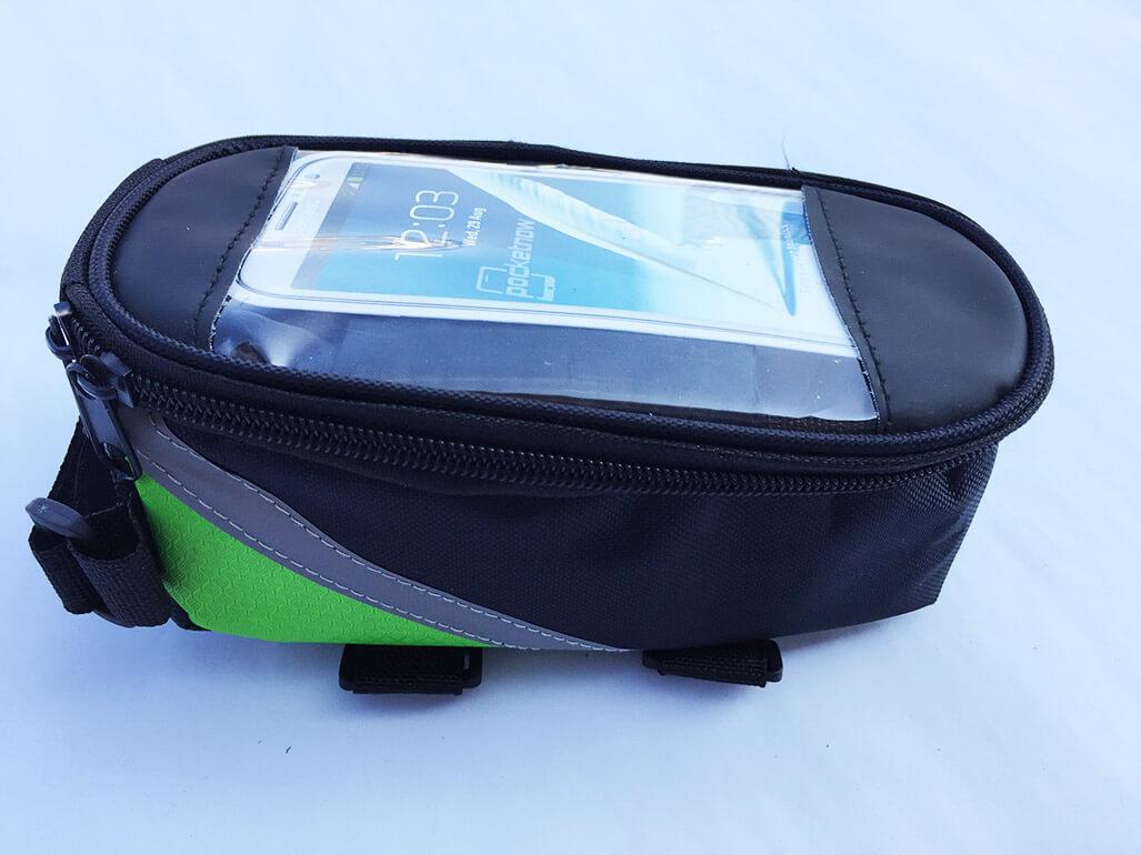 Cyklistické puzdro na mobil a drobnosti - farba zeleno-čierna