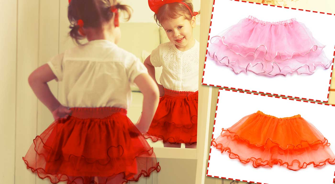 Krásna dievčenská tylová suknička