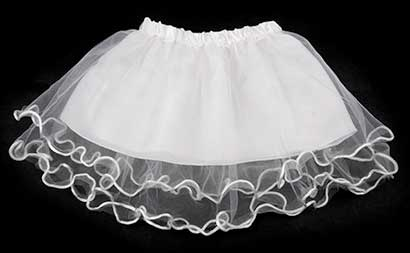 Dievčenská suknička - farba biela