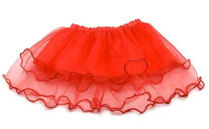 Dievčenská suknička - farba červená