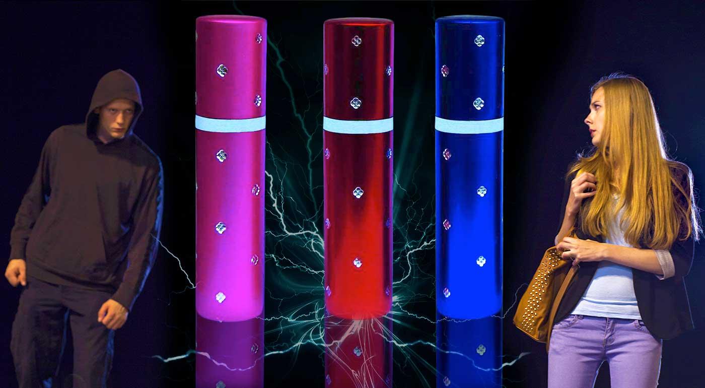 Paralyzér a LED baterka v tvare rúžu