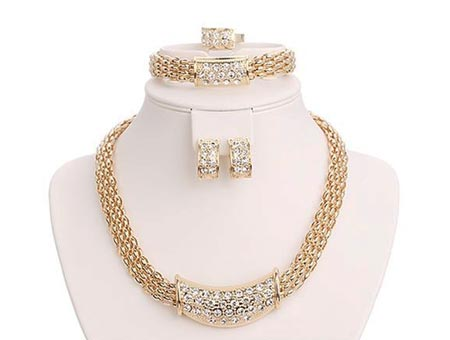 4-dielny set šperkov Athena (náhrdelník, náramok, náušnice, prsteň)