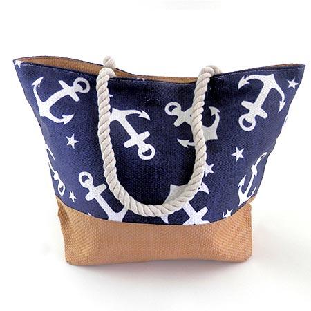 Dámska taška s veľkými kotvičkmi - modrá