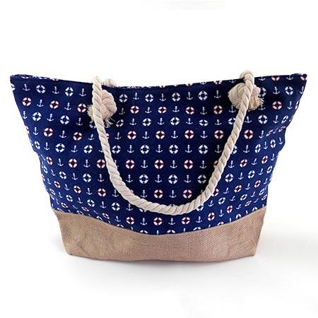 Dámska taška s malými kotvičkmi - modrá