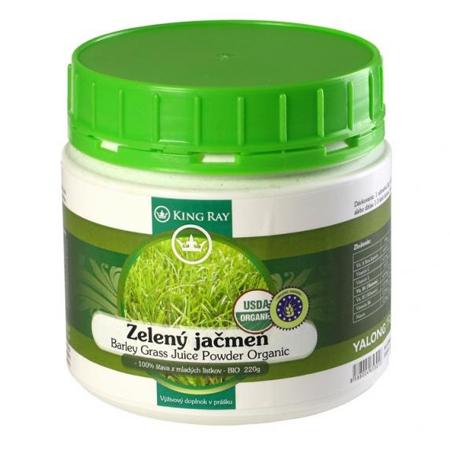 Organický kosher zelený jačmeň - 100 % šťava z mladých lístkov v prášku (220 g)