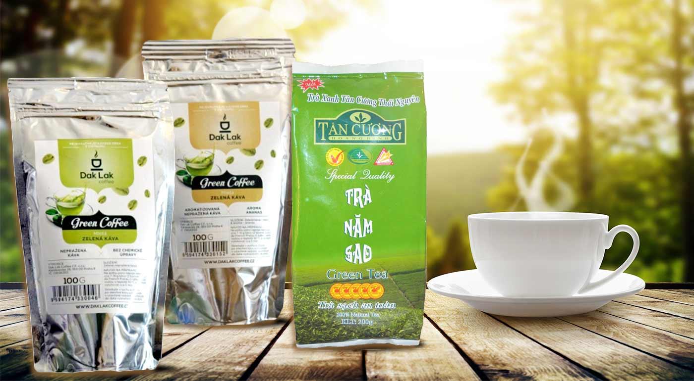 Antioxidanty - BIO Zelená káva a ručne zbieraný zelený čaj z Vietnamu