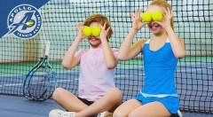 """Zľava 31%: Pripravte vašim deťom nezabudnuteľné prázdniny plné športu! Skvelý denný tábor """"tenisoví maniaci"""" je určený nie len pre maniakov, ale všetky deti, ktoré si chcú skúsiť profesionálne tréningy."""