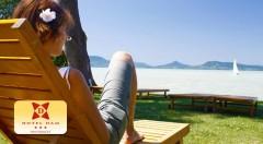 """Zľava 27%: Oddýchnite si na brehoch maďarského """"mora"""" Balaton. Hotel Dam Fonyódliget *** vás prekvapí obrovským wellness centrom, pohodlnými izbami a hlavne súkromnou plážou s neobmedzeným prístupom."""