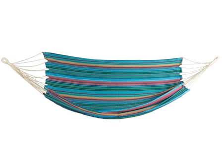 Hojdacia sieť Double pre 2 osoby - farba modro-oranžová