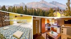 Zľava 63%: Máte vysoké očakávania od ubytovania? Apartmánový dom Patris predčí všetky vaše predstavy. Užite si naše veľhory v pohodlí luxusného zariadenia s úchvatným výhľadom.