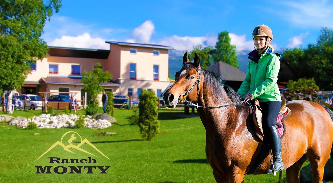 Nádherný pobyt v Tatrách v Penzióne Monty Ranch s jazdou na koni