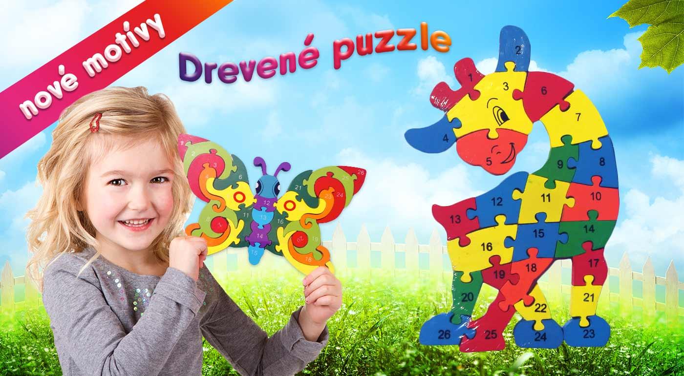 Drevené puzzle pre deti - na výber rôzne varianty