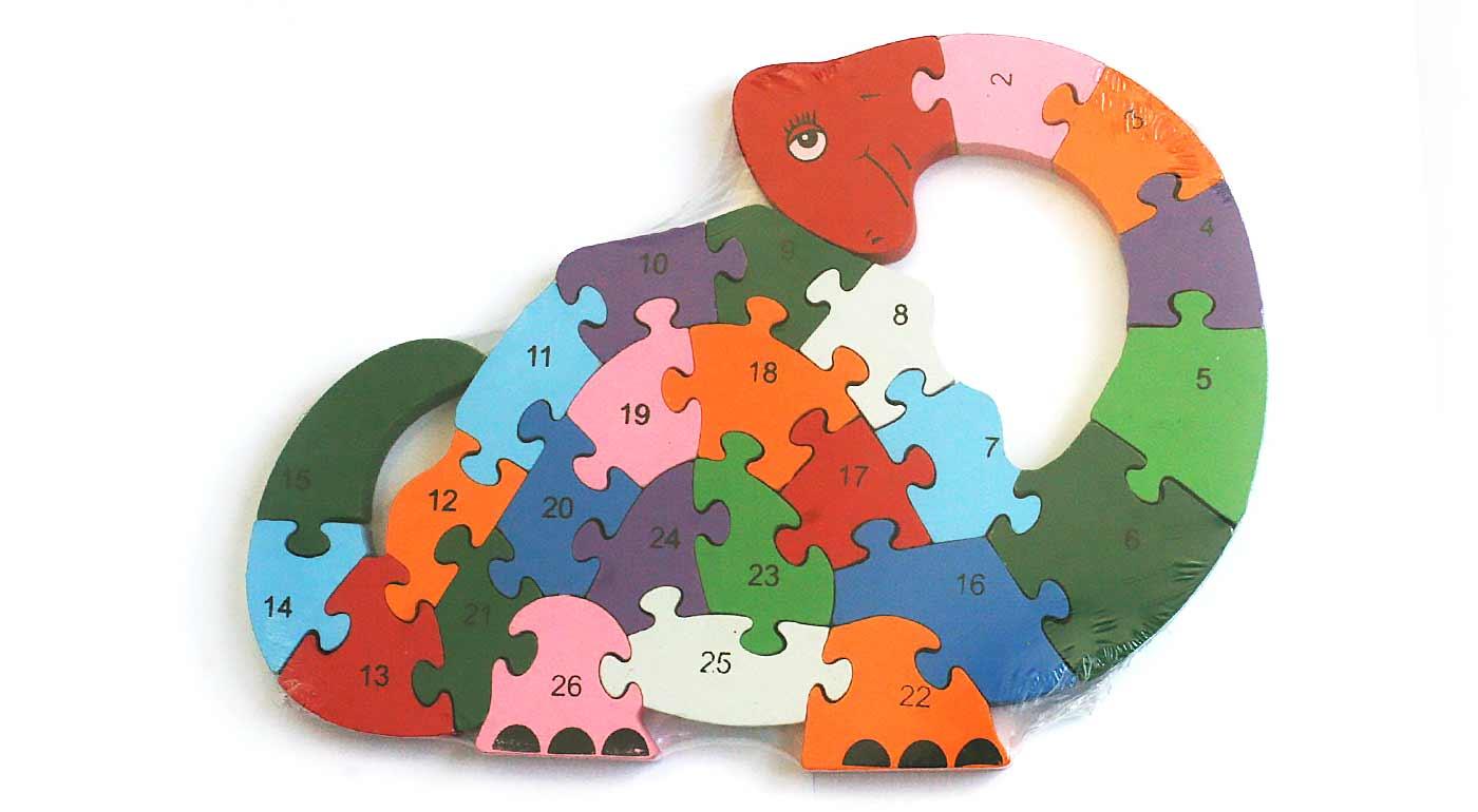 Drevené puzzle - dinosaurus 2