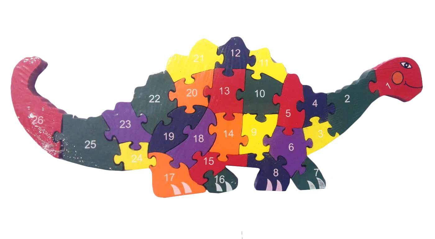 Drevené puzzle - dinosaurus