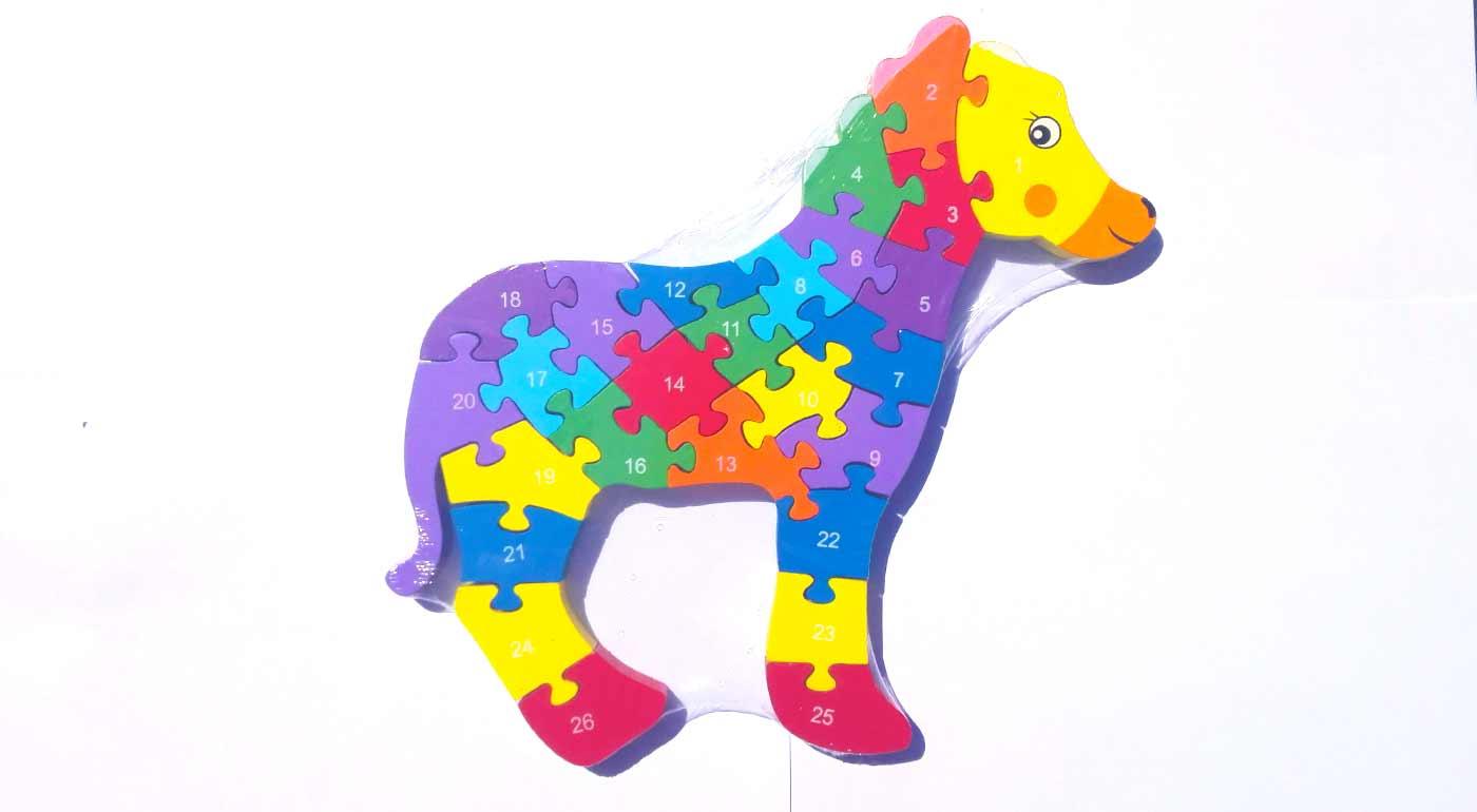 Drevené puzzle - kôň