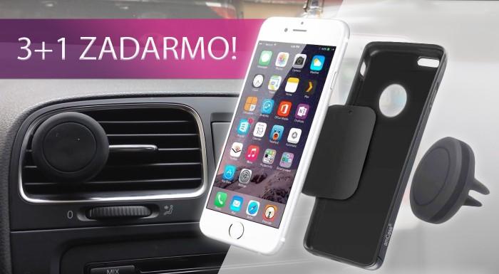 Fotka zľavy: Magnetický držiak na mobil do auta. 3+1 ZDARMA!