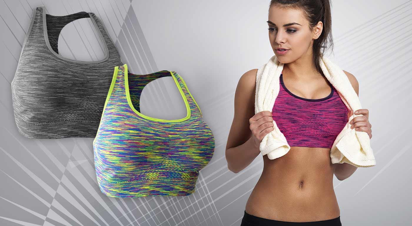 Športová podprsenka - farba telová - veľkosť L/XL