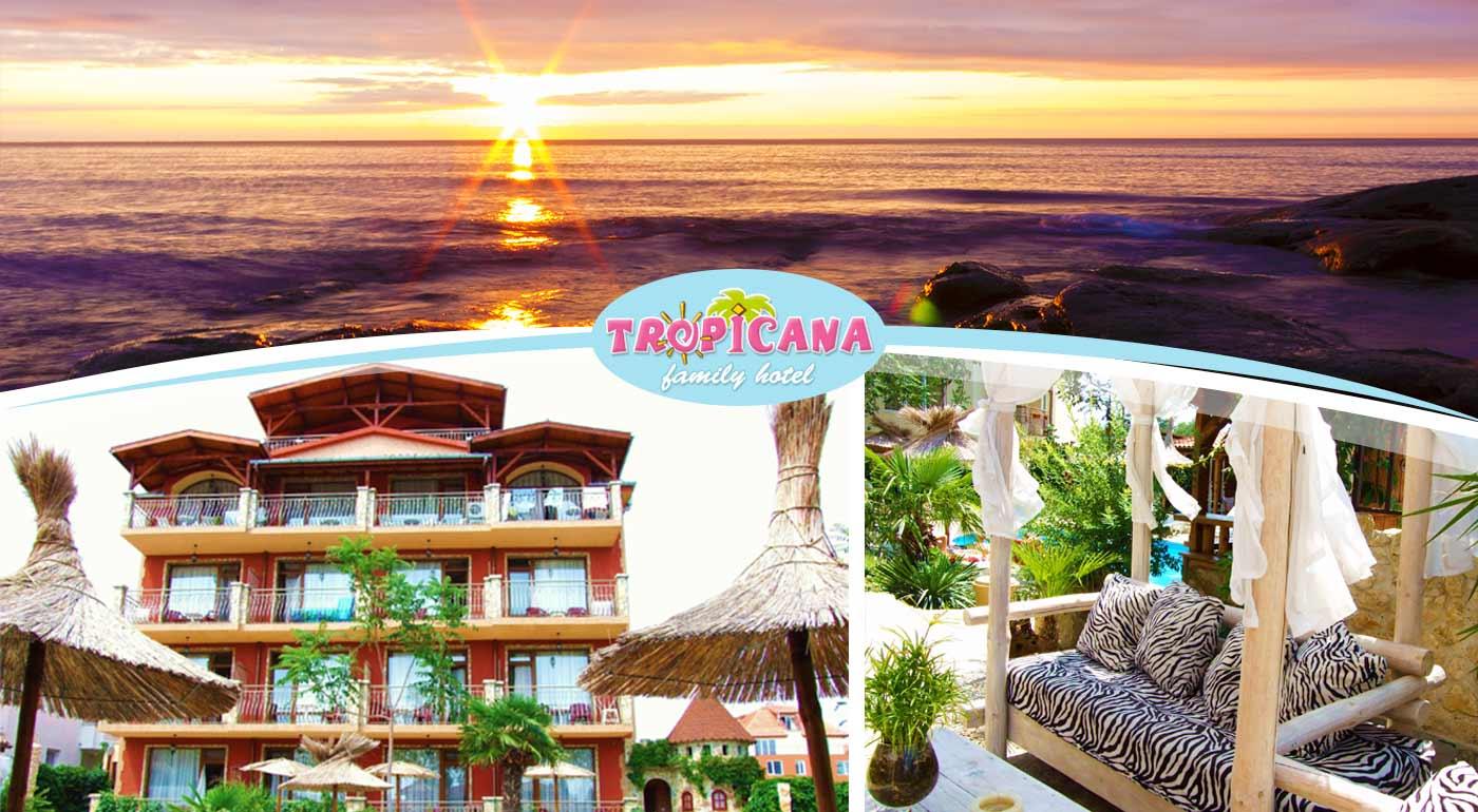 Týždňová dovolenka v rodinnom Hoteli Tropicana v bulharskom letovisku Ravda