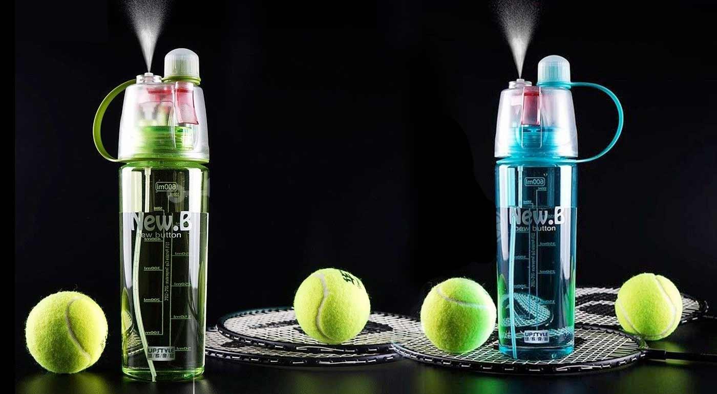 Fitness fľaša so sprejom - až tri farby na výber!