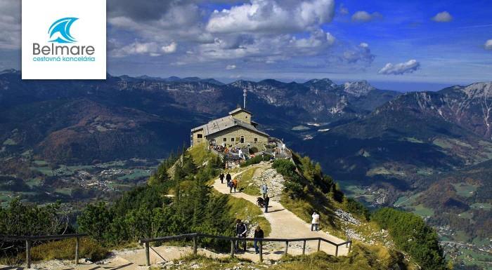 Zľava 25%: Vydajte sa po stopách poznania - navštívte Hitlerovo Orlie Hniezdo, jazero Konigsee i rodné mesto Mozarta - Salzburg. Neseďte doma a objavujte krásy sveta.