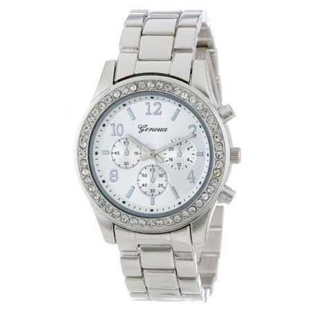 Dámske hodinky Geneva vykladané kamienkami  2d8c5658111