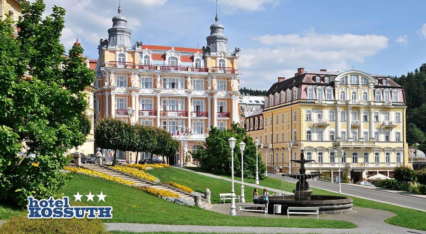 Úžasný wellness pobyt v Hoteli Kossuth *** v Mariánskych Lázňach s balíčkom procedúr