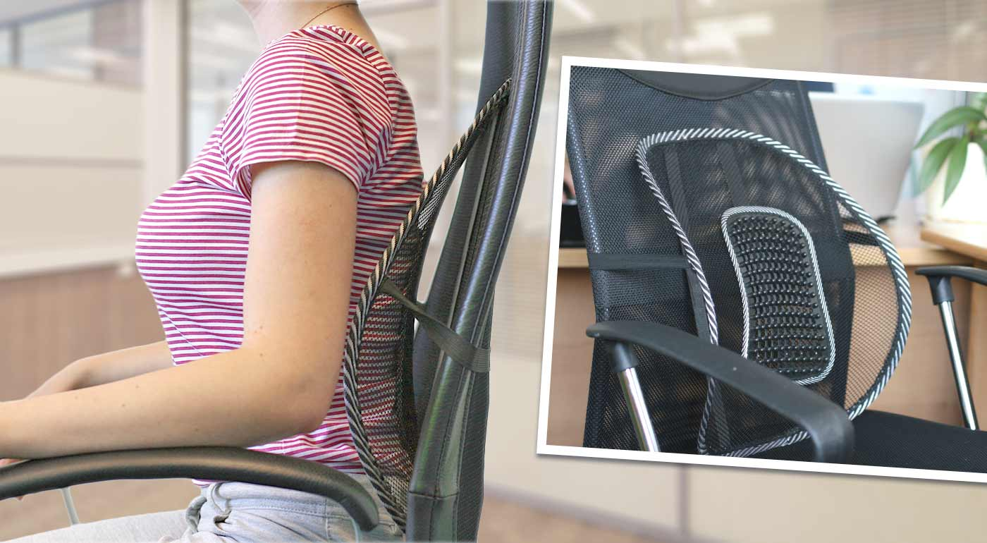 Masážna opierka chrbta pre bezbolestné sedenie
