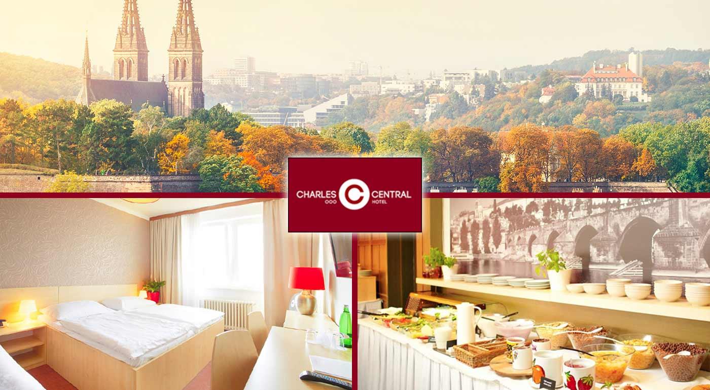 Pobyt pre dvojicu v Prahe v Hoteli Charles Central *** s raňajkami! Prežite 3 dni v znamení piva, sviečkovej a orloja