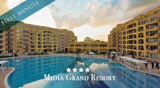 Zľava 36%: Užite si dovolenku na krásnych pieskových plážach v plne vybavenom apartmáne Midia Grand Resort**** v Bulharsku pri Čiernom mori.