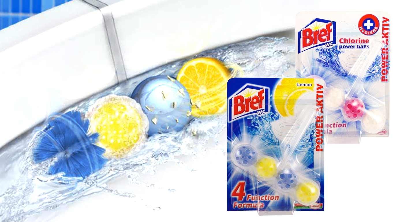 WC bloky Bref Power Aktiv pre sviežosť a hygienu - výhodné balíčky 5 alebo 10 ks!