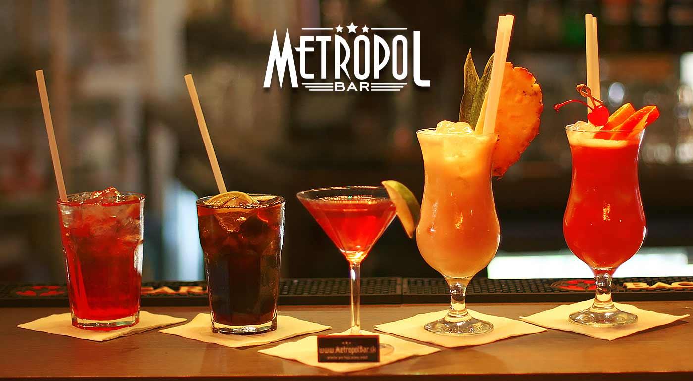 Miešané drinky v bare Metropol v centre Bratislavy - až 5 známych koktailov na výber!