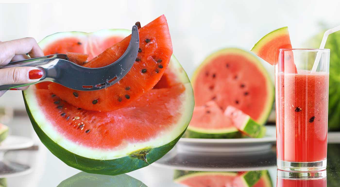 Šikovný nástroj na krájanie a servírovanie melónu