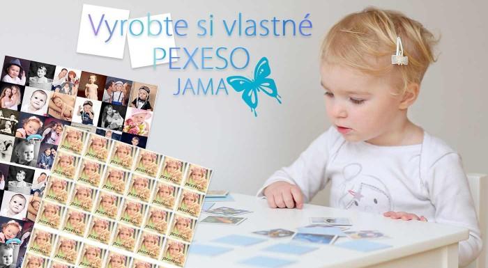 Zľava 40%: Pexeso nie je out ani v čase tabletov a smartfónov. Nechajte si vyrobiť túto hru s vlastnými fotografiami a uvidíte, že ňou potešíte nielen vaše deti.