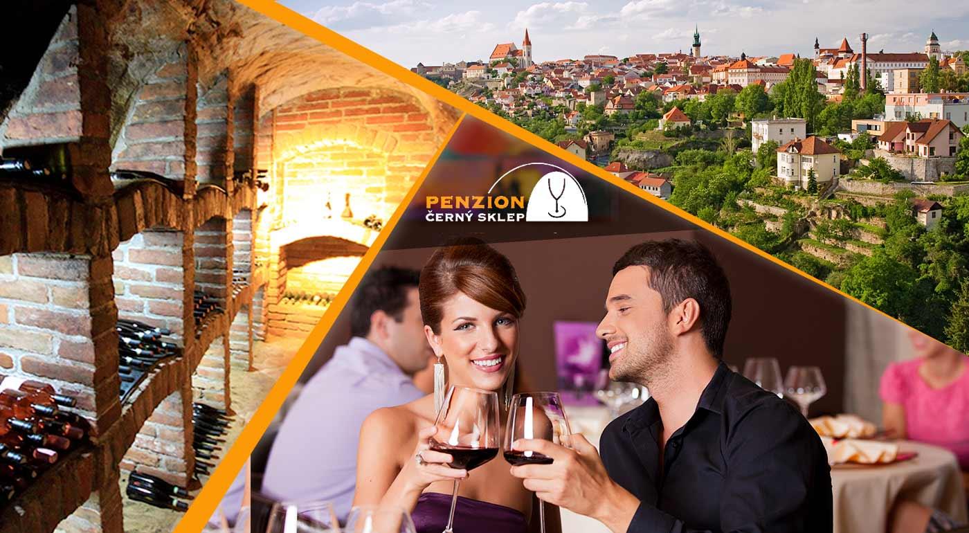 Penzión Černý sklep neďaleko Znojma - ochutnajte vo dvojici najlepšie vína na Morave a užite si pár dní relaxu a výborného jedla