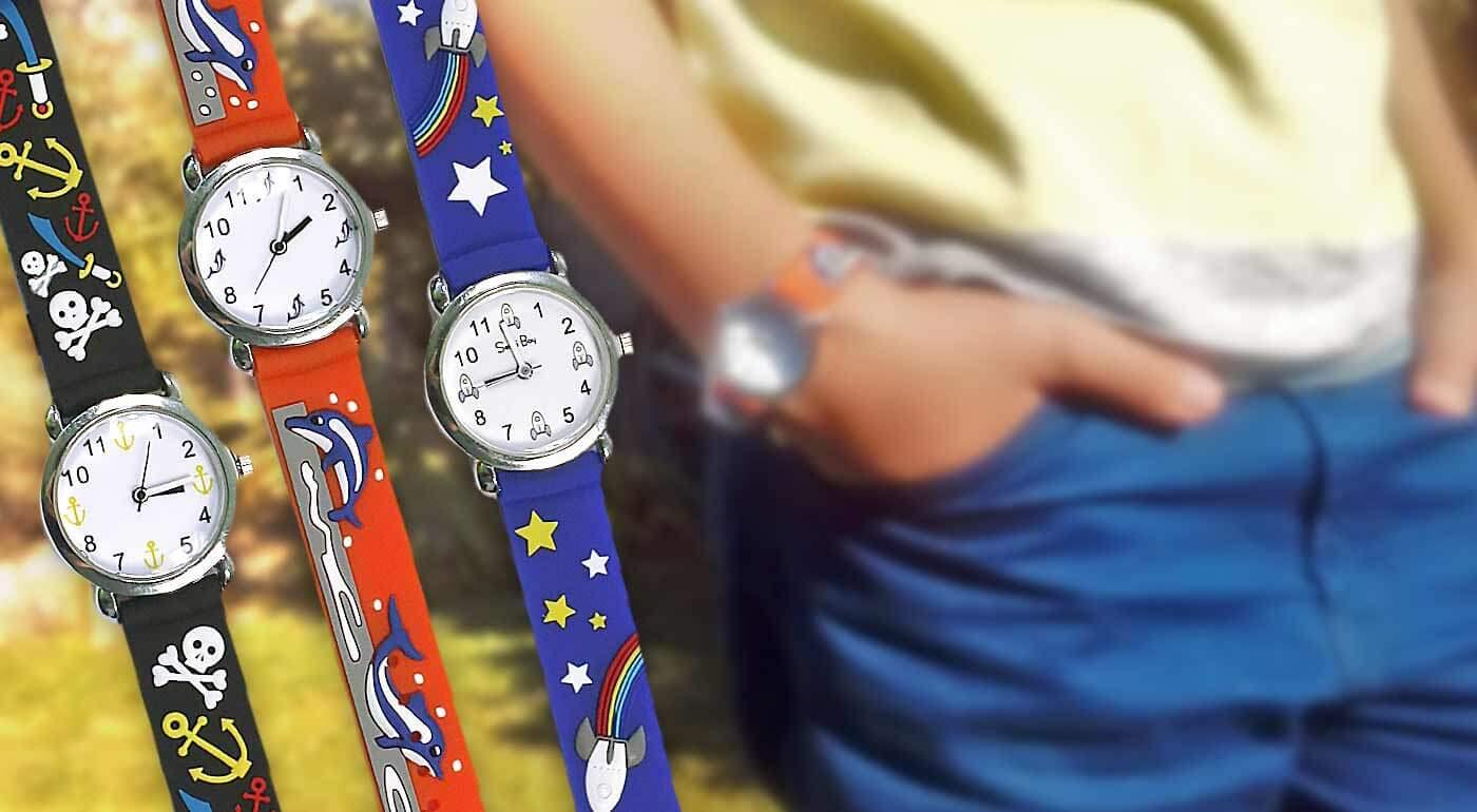 Detské hodinky s hravými motívmi pre chlapcov i dievčatá - bonus 3+1 ZDARMA!