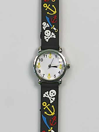 Detské ručičkové hodinky s motívom pirátov