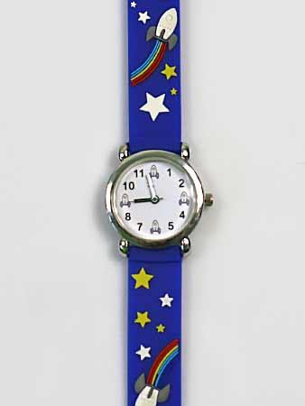 Detské ručičkové hodinky s motívom rakety